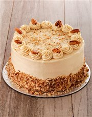 Coffee and Pecan Nut Cake with Coffee Icing 20cm