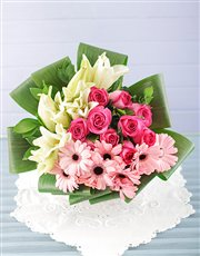 Lily Rose and Gerbera Bouquet