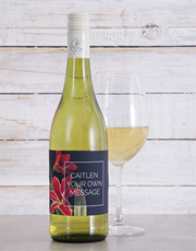 Send your sentiments with a bottle of white wine w