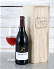 Personalised Vintage Frame Wine Crate
