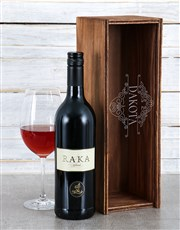 Personalised Deco Scroll Wine  Crate