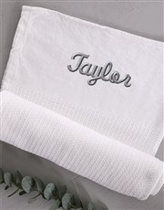 Personalised Cotton Baby Blanket