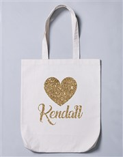 Show some love with this cute poly cotton tote bag