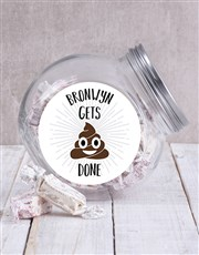 Personalised Gets It Done Candy Jar