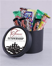 Personalised Leadership Choc Hat Box