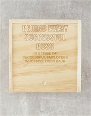 Personalised Successful Boss Lindt Crate