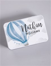 Personalised  Blue Air Balloon Spoils Gift