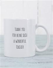 Thank that wonderful teacher with a mug which has