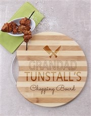 Let Grandad chop up a storm with this round wooden