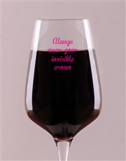 Spoil someone special with a red or white wine gla