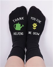 Thank someone special with this pair of black sock