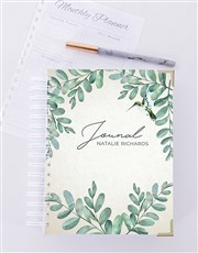 Personalised  Leaf Journal