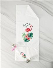 Personalised Flamingo Water Bottle