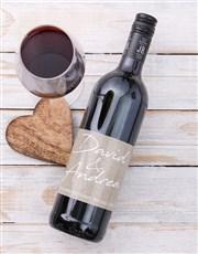 Personalised Couples Signature Wine
