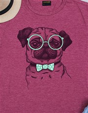 Make that pug lover's day  with this maroon ladies