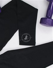 Personalised Workout Tights With Initials