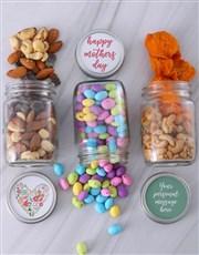 Personalised Mothers Day Fruit Jar Trio