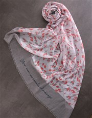 Personalised Animal Print Scarf Gift