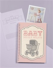 Personalised Classic Babys First Year Journal