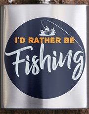 Personalised Gone Fishing Hip Flask
