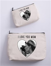 Personalised Heart Photo Cosmetic Bag