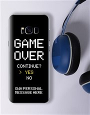 Personalised Game Over Samsung Cover