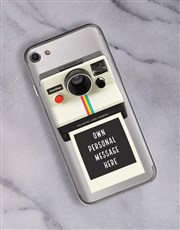 Personalised Polaroid iPhone Cover