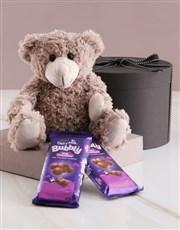 Gift Box with Teddy and Cadbury Chocolates