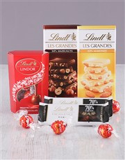 Included is various Lindt slabs ranging from excel