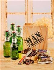 Grolsch Beer & Biltong in a Crate
