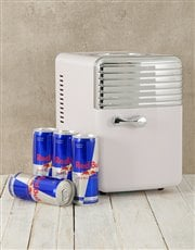 Keep calm and have a cold Red Bull with this white