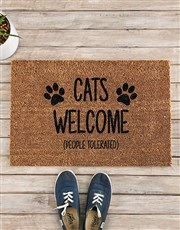 Spoil that cat or dog lover with this coir doormat