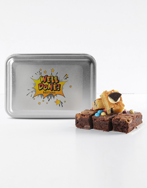 brownies: Personalised Well Done Mixed Delights Brownies!