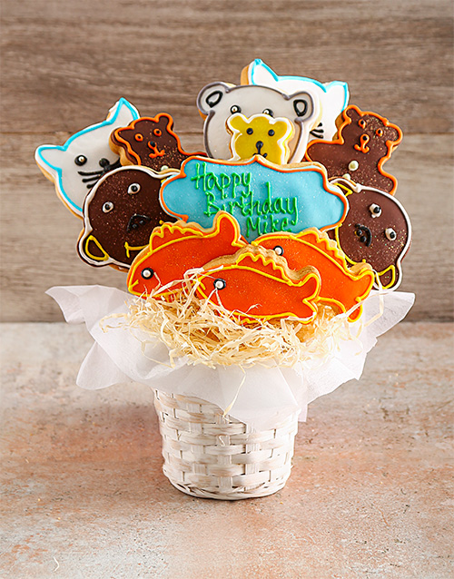 cookies-and-biscuits: Zoo Party Birthday Cookie Bouquet!