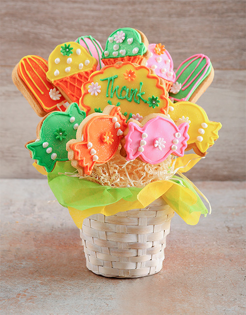 teachers-day: Thank You Treats Cookie Bouquet!