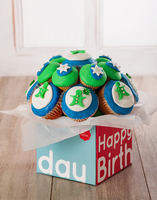 birthday: Happy Birthday Cupcake Bouquet for Him !