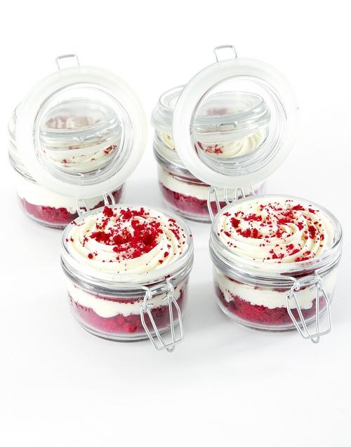 cupcake-jars: Red Velvet Cupcakes in a Jar!
