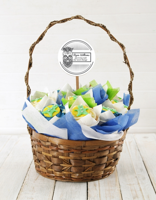 cupcakes: Personalised Rock On Cupcake Bouquet!