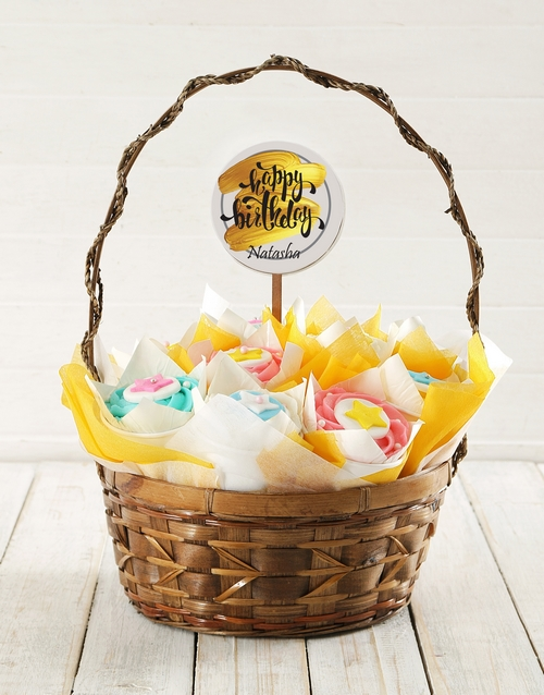 cupcakes: Personalised Golden Birthday Cupcake Bouquet!