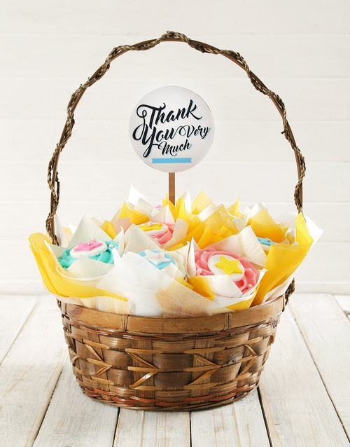 cupcakes: Personalised Big Thanks Cupcake Bouquet!