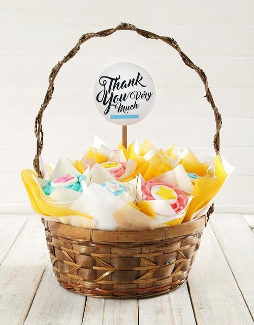 secretarys-day: Personalised Big Thanks Cupcake Bouquet!