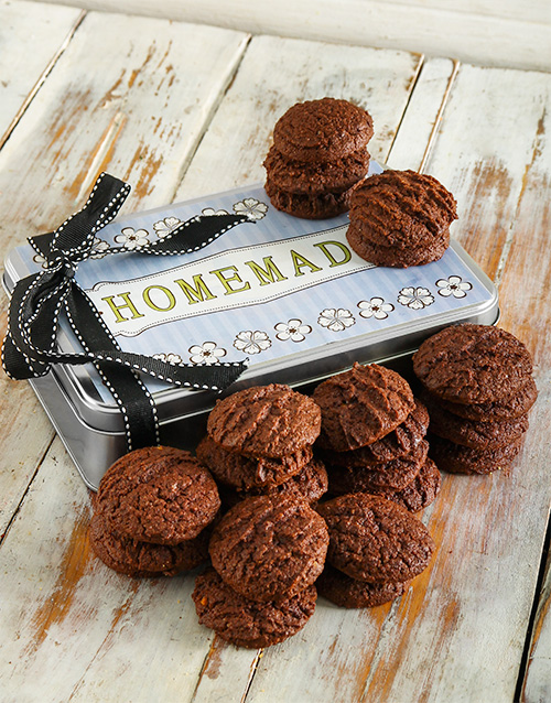 cookies-and-biscuits: Crunchy Double Chocolate Cookie Tin!