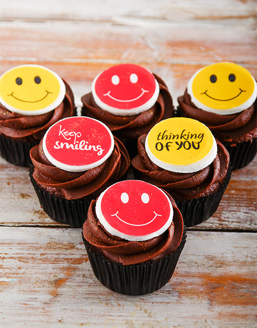get-well: Keep Smiling Chocolate Cupcakes!