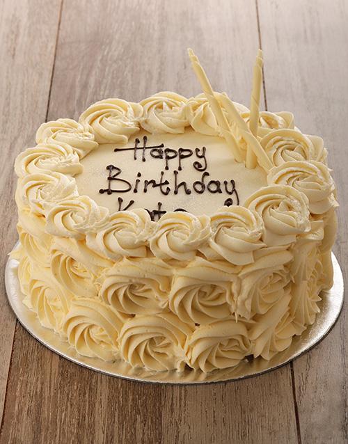 birthday: White Rose Cake!
