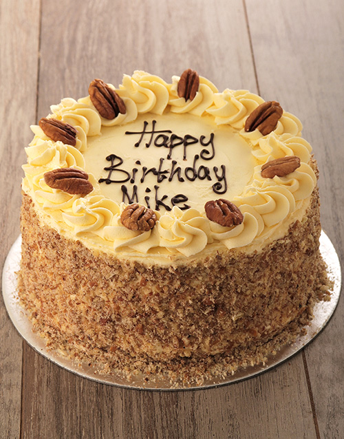 birthday: Carrot and Pecan with Cream Cheese Icing 20cm!