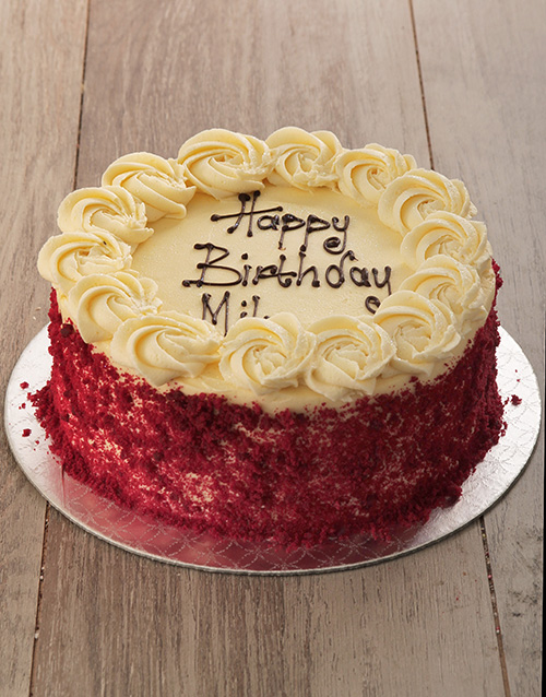 personalised: Red Velvet with Cream Cheese Icing!