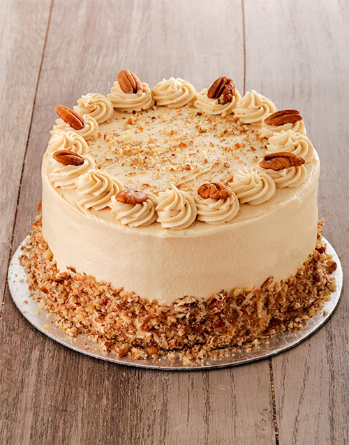birthday: Coffee and Pecan Nut Cake with Coffee Icing 20cm!