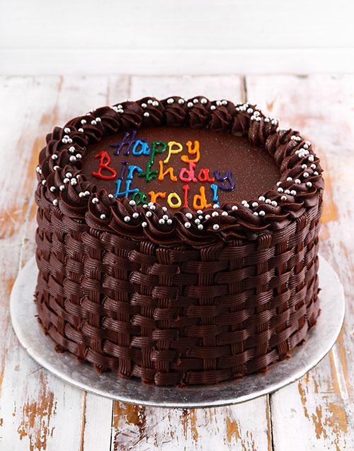 birthday: Simple Chocolate Birthday Cake!