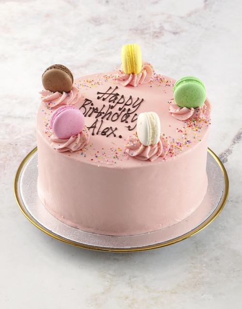 cakes: Pink Macaroon Cake!