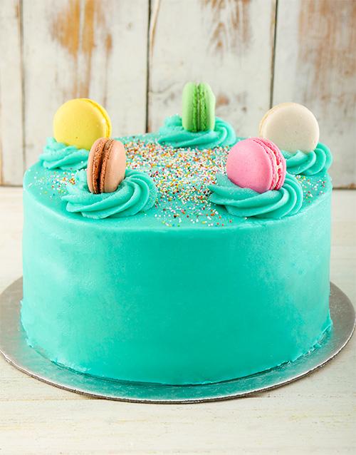 birthday: Turqouise Macaroon Cake!
